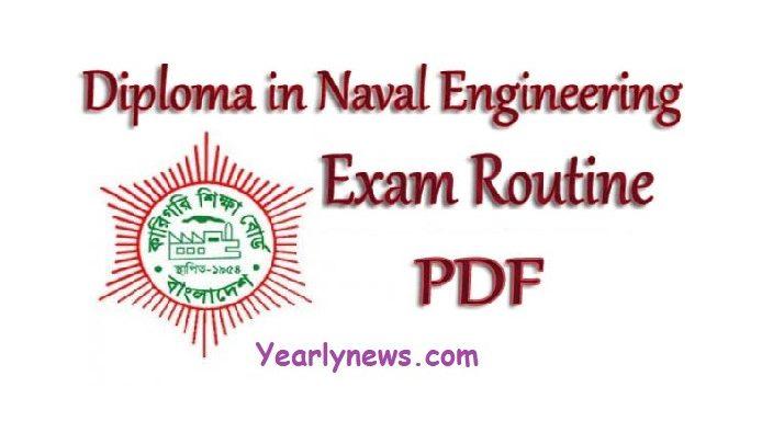 Diploma in Naval Engineering Routine