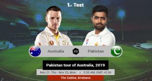 Australia vs Pakistan 1st Test Tournament