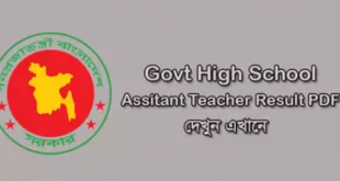 BPSC Govt High School Assistant Teacher Result