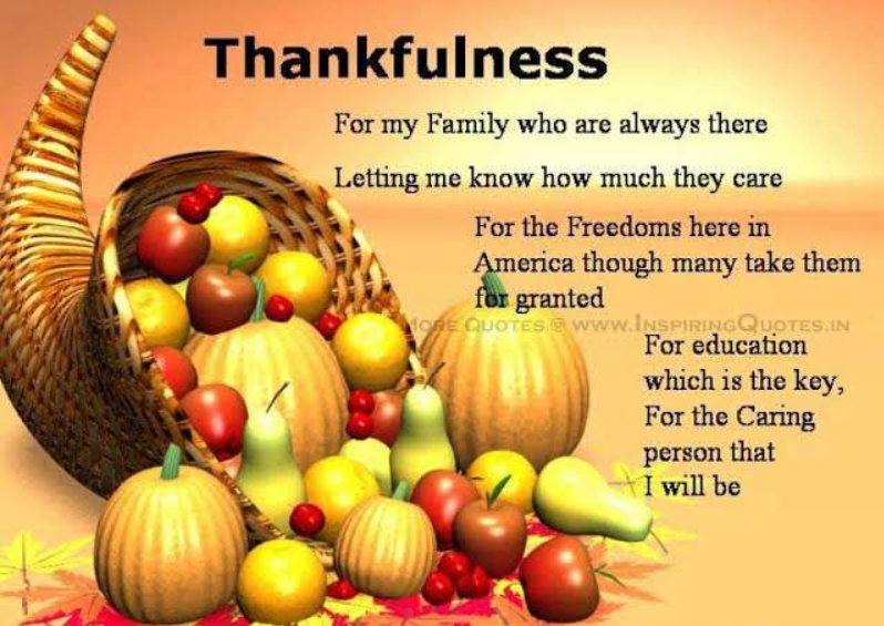 Thanksgiving day message