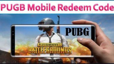 PUGB Mobile Redeem Code