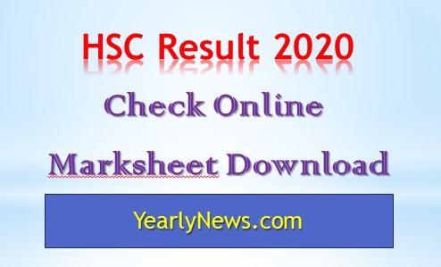 HSC Result 2020 Marksheet Download
