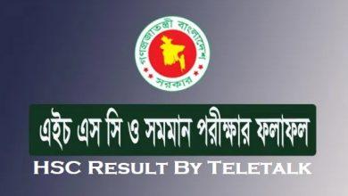 HSC Result By Teletalk