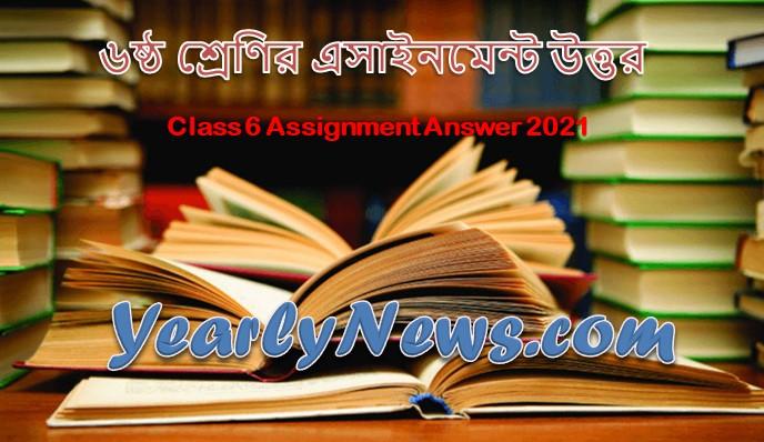 Class 6 Assignment Answer 2021